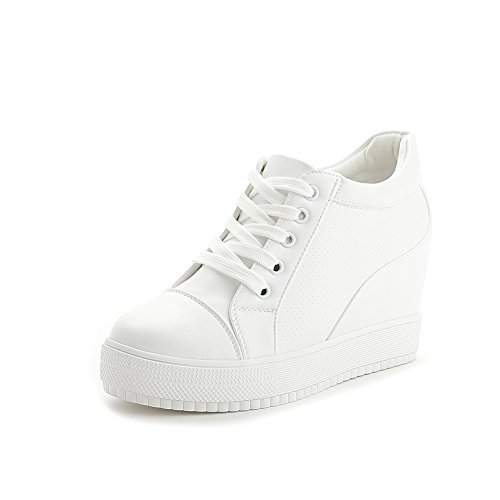 hot Women's Fashion Sneakers Wedges Sneakers Breathable Platform Casual Shoes get discount