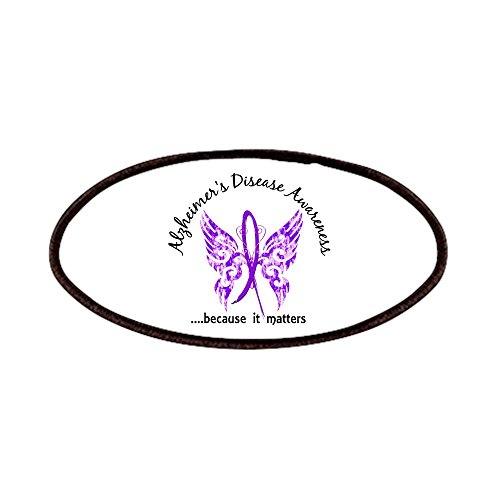CafePress - Alzheimer's Disease Butterfly 6.1 Patches -