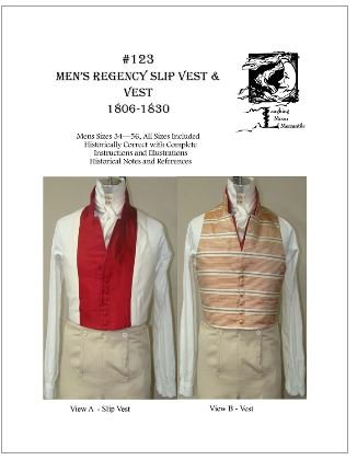 Amazon.com: Sewing Pattern - 1806 - 1830 Men\'s Regency Slip Vest ...