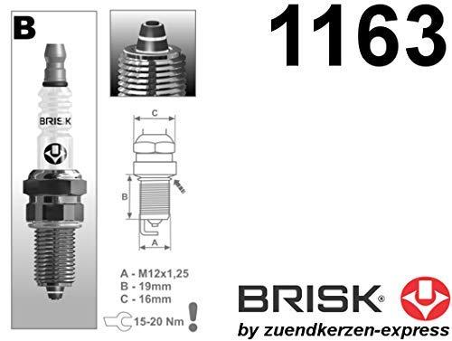 2 piezas BRISK Premium Racing BR12ZC 1163 Buj/ías de Encendido