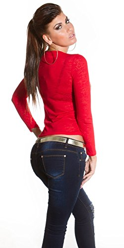 Fashion By Miss Fusion - Camisas - para mujer Rosso