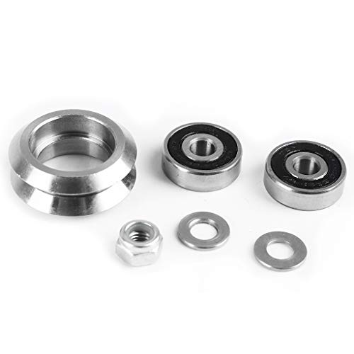GMSP 1Set High Precision Silver Stainless Steel CNC Metal Dual V Wheel Kit for Linear Rail System for 3D Printer Parts