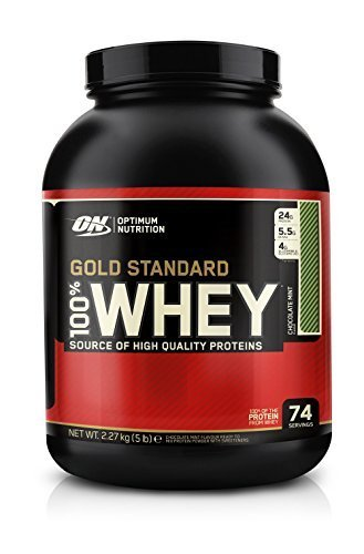 Optimum Nutrition 100% Whey Gold Standard, Chocolate Mint, Net WT. 5 LB by Optimum Nutrition (Chocolate Whey Mint Standard Gold)