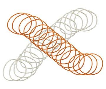 (Colored Wristbands Orange White - 20 Pack)