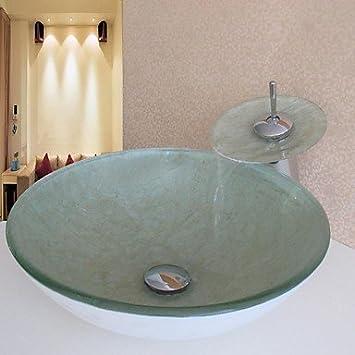 GXS Badezimmer Spüle, Sets von-Spüle Badezimmer, Glas Waschbecken ...