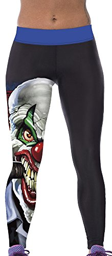 (Sister Amy Women's Fitness High Waist Yoga Pants Printed Stretch Ankle Legging)