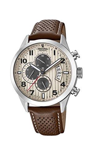 Men's Watch Festina - F20271/2 - Quartz - Chronograph - Date - Leather Band by Festina