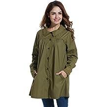 Hount Women Hooded Waterproof Raincoat with Pocket Outdoor Sport Lightweight Jacket