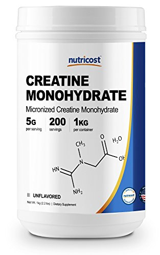 Nutricost Creatine Monohydrate Micronized Powder (1 KG), 5000mg Per Serve - Pure Creatine Monohydrate