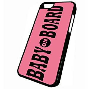 Baby On Board Pink - iPhone 5C Black Case