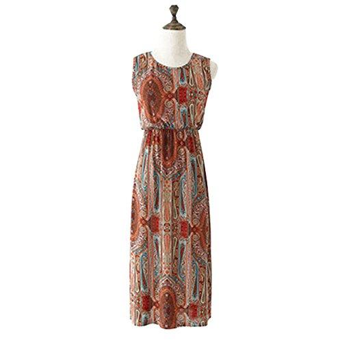 Ertans(TM) 利用可能な新しい到着ミッドカーフOネックカジュアルマタニティドレスかわいいファッション妊婦サンドレス3色