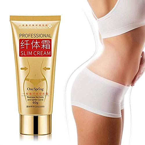 Slim Cream - LEEGOAL Slim Extreme Cellulite Slimming & Firming Cream Body Fat Burning Massage Gel Weight Losing Hot Serum Treatment for Shaping Waist, Abdomen and Buttocks (1#)