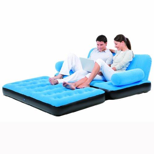 Bestway Multi-Max Air Couch with Sidewinder AC Air Pump, 74 x 60 x 25-Inch