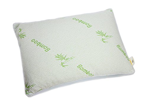Serapis Shredded Latex Pillow with Bamboo Fiber Cover, Natural Healthy and Comfortable, Standard Size 17