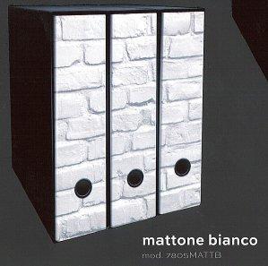 Raccoglitori Per Ufficio Decorati.Set 3 Raccoglitori Dorso 8cm Mattone Bianco Amazon It