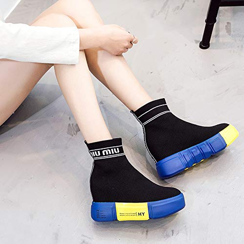 Style Thick XINGMU Hop High Higher Hip New Bottom Elastic Inside Side Boots Black Elements PPgCq1