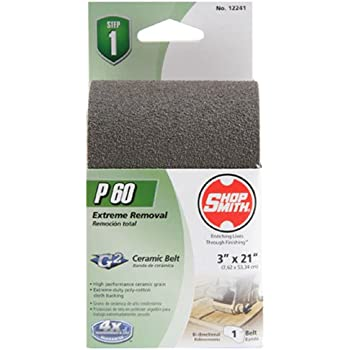 Shopsmith 12241 60 Grit Ceramic Sanding Belts 1 Pack 3