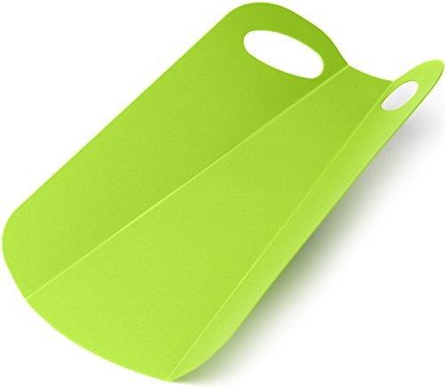Foldable Cutting Board Folds In the Perfect Vegetiable Salad Prep Mat Maker with Grip Hole Folding Chopping Board to Pan or Bowl, Spills Flexible, Dishwasher Safe, Ultra-light PP Plastic.