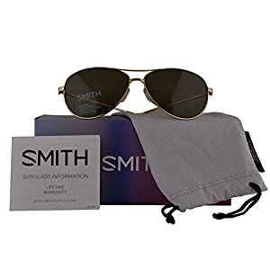 Smith Authentic Sunglasses Langley Gold w/ChromaPop Polarized Grey Green J5G (60mm) Langley/S