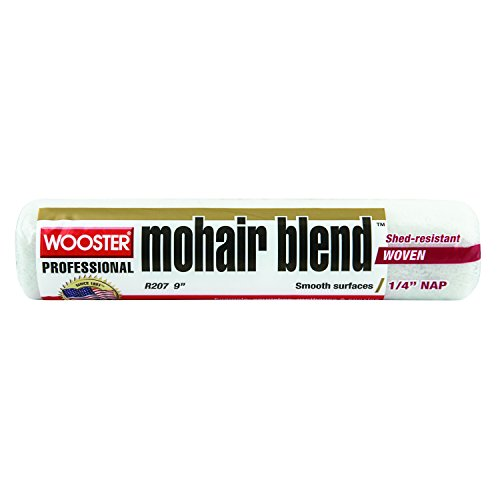 (Wooster Brush R207-9 Mohair Blend Roller Cover 1/4-Inch Nap, 9-Inch)