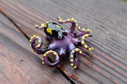 Squid Octopus Glass Octopus Blown Glass Octopus Figurine Kraken Cephalopod Glass Octopus Sculpture Blown Glass Octopus Ocean