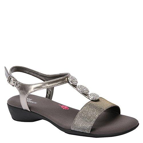 Ros Hommerson Women's Mariel Sandals, Silver Leather, 9 WW