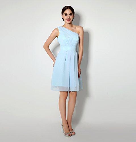 Bridal_Mall - Vestido - trapecio - Sin mangas - para mujer azul claro