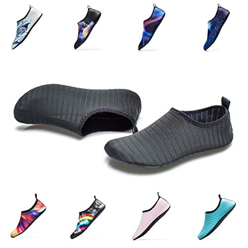 Water Sports Shoes Outdoor Beach Swimming Surf Quick-Dry Aqua Socks Barefoot Yoga Anti-Slip Shoes for Men Women (XXXL: 13.5-14 M US Women / 12-13 M US Men, Black)
