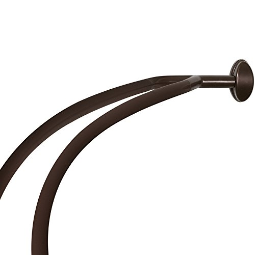 Allen Roth 72 In Curved Adjustable Double Shower Curtain Rod Oil Rubbed Bronze