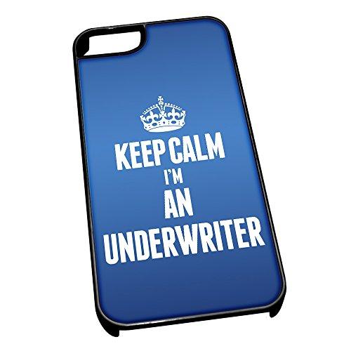 Nero cover per iPhone 5/5S 2703blu Keep Calm I m An Underwriter