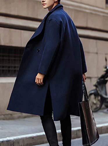 Nero Lana Lunghe Taglie Doppio Con Abiti Petto Comode Misto Da Uomo Marinaio Rivestimento Tweed Maniche Marineblau In A Giacca Wn0pO1aR8R