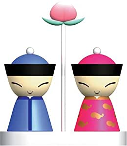 Alessi mr mrs chin salt and pepper set for Amazon alessi