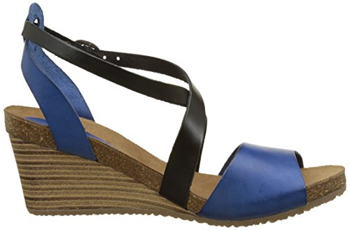 Kickers Spagnol - Sandalias de Vestir de cuero mujer Bleu (Bleu Noir)