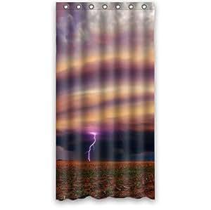 Beautiful Sight,Cool Tornado Pattern Design Custom 100% Polyester Waterproof Shower Curtain 36 x 72