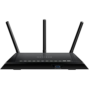 NETGEAR Smart WiFi Router with Dual Band Gigabit for Amazon Echo/Alexa - AC1750 (R6400-100NAS)