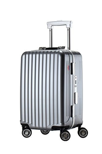 Ambassador Tru Frame Polycarbonate Lightweight Spinner Carry On Luggage Travel Trolley Suitcase Iron Gray 20 Inch by Ambassador