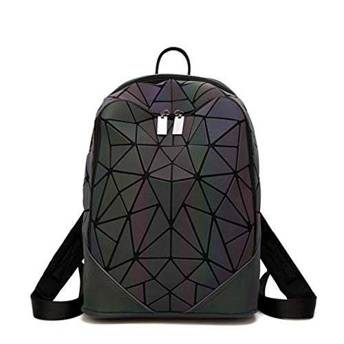 Sequin Rucksack Backbag Backpack Luminous Female Fashionable Ukcnsmxjd Irregular For Women Triangle qftHOxg