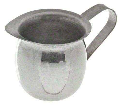 baree shop Stainless Steel Bell Creamer Pitcher with handle - 3 oz ounce