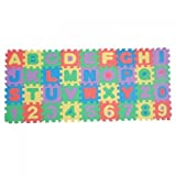 Educational Colorful Foam Alphabet & Number Mini Interlocking Puzzle Mat