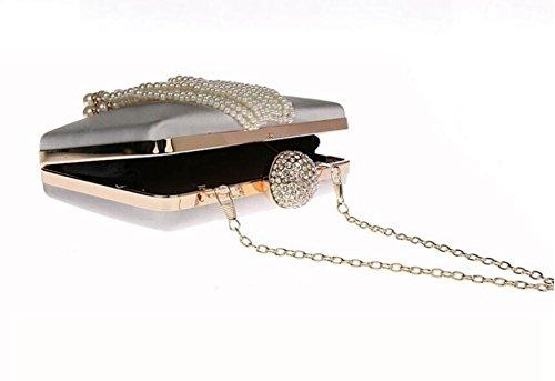 Élégant Pour Main GSHGA Red White Mariage Sacs Mode Soirée À Sac Sac Pochette Prom Bandoulière Nouveau Le à Hasp Mini Tassel Bandoulière Filles à vqw6v48
