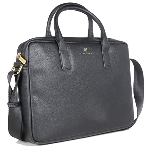 Cross Black Softsided Briefcase Stylishly Laptop Briefcase Bags for Men Women Designed for Office and Casual Wear (AC791339_2-1)