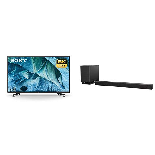 Sony XBR-85Z9G 85-Inch 8K HDR Smart MASTER Series LED TV and 7.1.2ch 800W Dolby Atmos Sound Bar with Wireless Subwoofer (HT-ST5000)