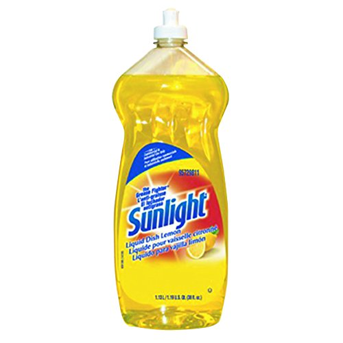 Sunlight 95729811CT Liquid Dish Detergent, Lemon Scent, 38 oz Bottle (Case of 9)