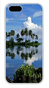 iPhone 5S Case and Cover -Oasis PC case Cover for iPhone 5 and iPhone 5s ¨C White