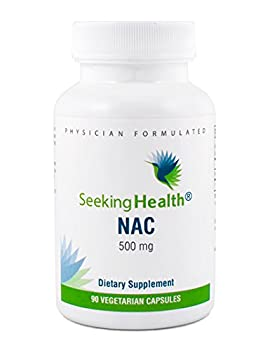 NAC   500 mg N-Acetyl-L-Cysteine   Powerful Detoxifying Action  90 Easy-To-Swallow Capsules   Free of Common Allergens   Seeking Health
