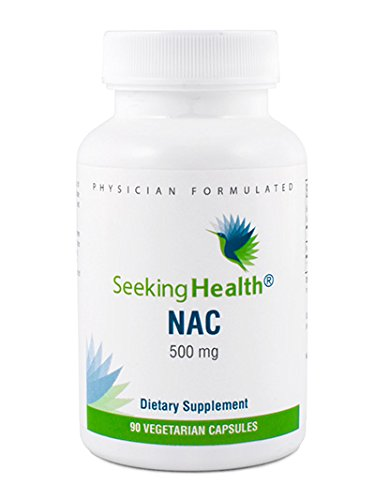 NAC | 500 mg N-Acetyl-L-Cysteine | Powerful Detoxifying Action| 90 Easy-To-Swallow Capsules | Free of Common Allergens | Seeking Health Review