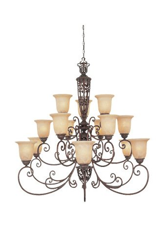 Umber Three Burnt Light (Burnt Umber Fifteen Light Up Lighting Three Tier Chandelier from the Amherst Collection)