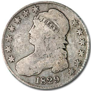 1829 Capped Bust Half Dollar VG Half Dollar Very Good