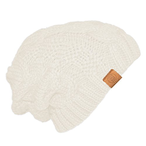Basico Unisex Warm Chunky Soft Stretch Cable Knit Beanie Cap Hat - Knit Cable Chunky Hat