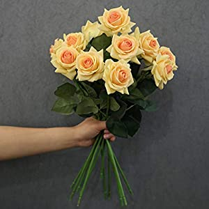 N YONGNUO Latex Moisturizing Roses of Real Touch Natural Artificial Flowers Roses Realistic Color for Wedding/Home Decor or As a Gift to Wife/Mother/Friend 4